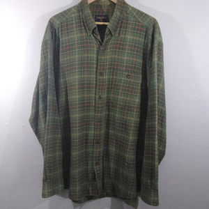 Woolrich Green Flannel Button Down Shirt